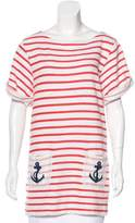 By Malene Birger Striped Embroidered Tunic