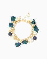 Charming charlie Pearls and Bows Charm Bracelet
