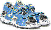 Roberto Cavalli double strap sandals - kids - Nappa Leather/Pig Leather/rubber - 24