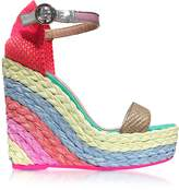 Sophia Webster Lucita Rainbow Wedge Sandals