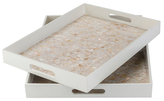 Surya Alessandra Mother of Pearl Trays (Set of 2)