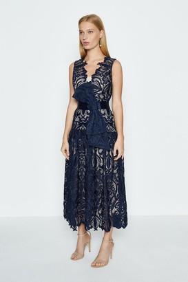 Coast Sleeveless V-Neck Lace Maxi Dress