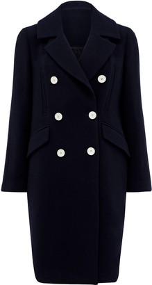 Forever New Tali double breasted coat - Navy - 16