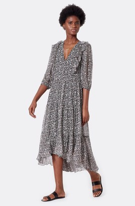 Joie Tobey Silk Midi Dress