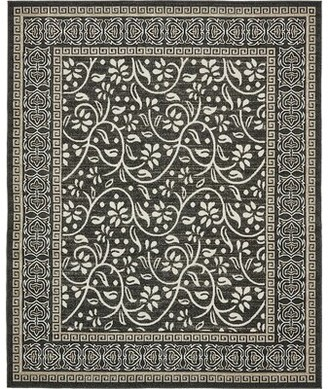 RugPal Veranda Power Loom Charcoal Indoor/Outdoor Rug Rug Size: Rectangle 9' x 12'