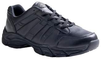 Dickies Men's Athletic Lace Leather Slip Resistant Sneakers - Black