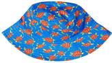 John Lewis Children's Turtle Print Bucket Hat, Blue