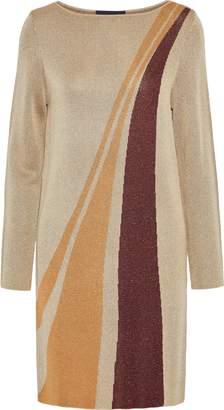 Vanessa Seward Felicia Metallic Jacquard-knit Mini Dress