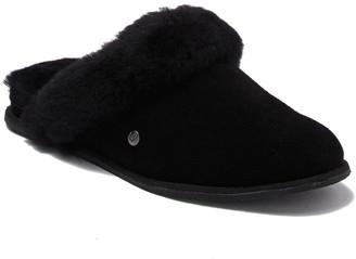 BearPaw Ladon Suede & Faux Fur Scuff Slipper