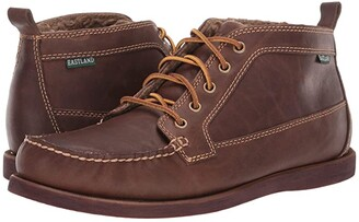 Eastland 1955 Edition Seneca Fleece Lined (Shearling Lined Dark Tan) Men's Lace-up Boots