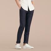 Burberry Slim Fit Linen Cotton Trousers