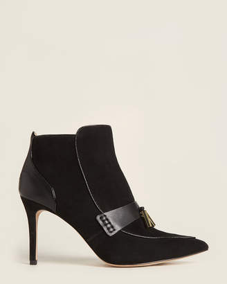 Louise et Cie Black Shiro Suede Ankle Booties