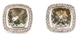 David Yurman Prasiolite & Diamond Albion Earrings