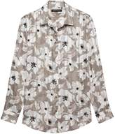 Banana Republic Petite Dillon Classic-Fit Sheer Floral Stripe Shirt