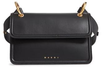 Marni Beat Leather Crossbody Bag