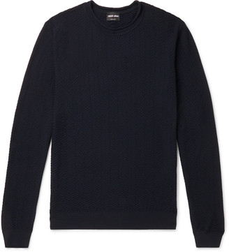 Giorgio Armani Slim-Fit Quilted Virgin Wool-Blend Sweater