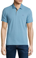 Burberry Short-Sleeve Oxford Polo Shirt, Pale Blue