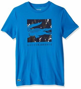 Lacoste Mens Sport Short Sleeve Novak Fan Capsule Logo T-Shirt T-Shirt