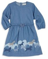 Stella McCartney Toddler's, Little Girl's & Girl's Horse Embroidered Dress