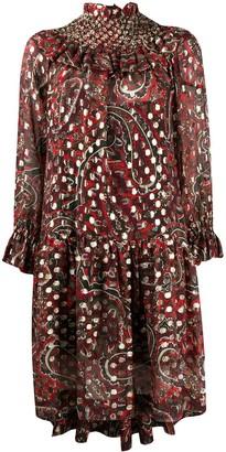 P.A.R.O.S.H. Paisley Ruffle Dress