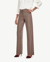 Ann Taylor Flannel High Waist Wide Leg Pants