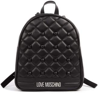Love Moschino Black Quilted Pvc Backpack