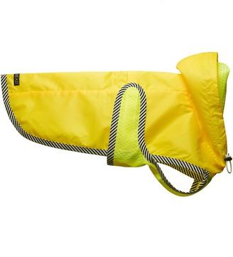 LoveThyBeast Neon Yellow Dog Raincoat with Mesh Lining