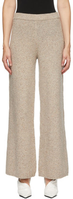 Joseph Beige Tweed Knit Trousers