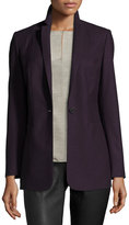Elie Tahari Bonnie One-Button Stretch-Wool Blazer