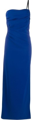 Boutique Moschino Ruched Off-Shoulder Gown