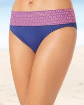Soma Intimates Convertible Foldover Hipster Swim Bottom Red