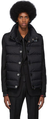 Burberry Black Monogram Puffer Down Midland Vest