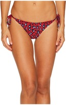 Stella McCartney Leopard Tie Side Bikini Bottom Women's Swimwear