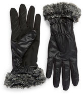 Ur Powered Faux Fur-Trimmed Gloves