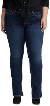 Silver Jeans Co. Trendy Plus Size Suki Curvy-Fit Slim Bootcut Jeans