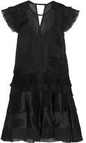 Isabel Marant Vila plissé silk-blend organza mini dress