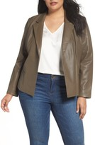 Sejour Plus Size Women's Leather Blazer