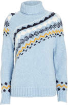 Derek Lam 10 Crosby Fair Isle Turtleneck Sweater
