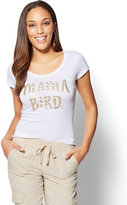 "New York & Co. ""Mama Bird"" Graphic Logo Tee"
