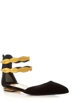 Louis Leeman Gold Double Strap Flat