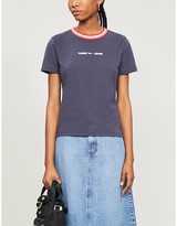 Tommy Jeans Branded cotton T-Shirt