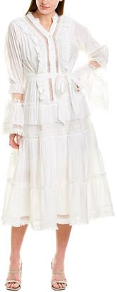 Beulah Fringe Midi Dress