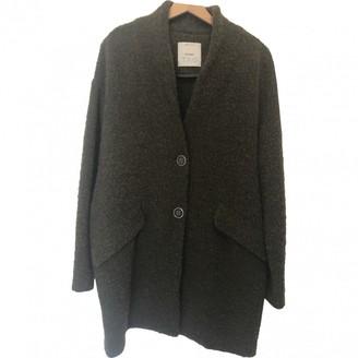 Pinko Khaki Wool Coat for Women