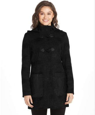 Women's Weathercast Hooded Wool Blend Toggle Coat