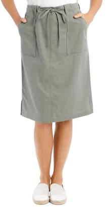 Regatta Patch Pocket Skirt With Side Splits & Rib Waist-Khaki