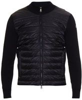 Moncler Quilted-down And Cotton-knit Jacket