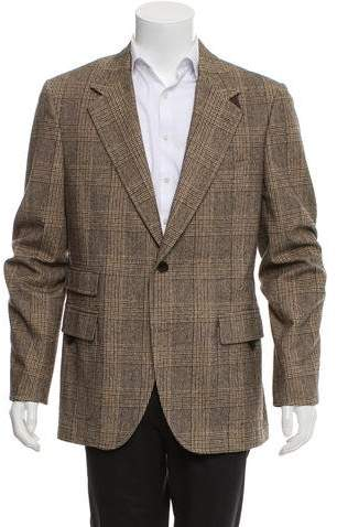 Dolce & Gabbana Woven Glen Plaid Blazer
