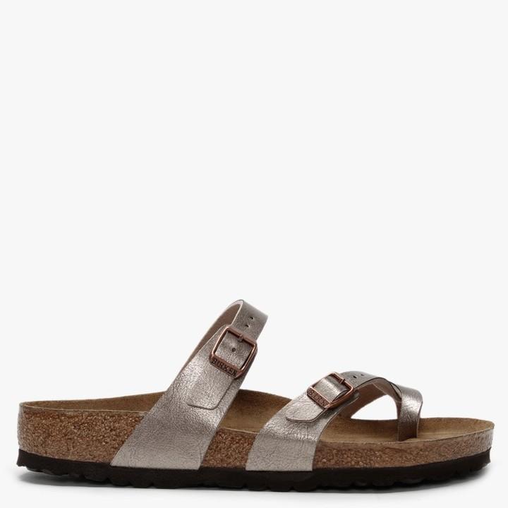 Birkenstock Mayari Graceful Taupe Birko-Flor Thong Sandals