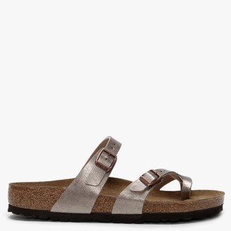 Birkenstock Mayari Graceful Taupe Birko-Flor Thong Sandals