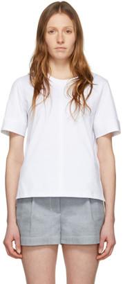 3.1 Phillip Lim White Snap Cuff T-Shirt